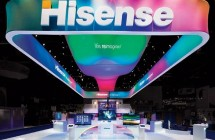 Hisense booth supporting new brand look